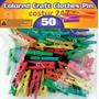 Pinza Manualidades De Colores 2.5 Cm X 50 Piezas