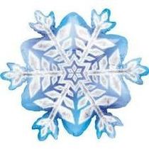 Globos Metalizado Mini Copo De Nieve Frozen Miden 22 Cm