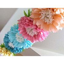 Flores Mariposas Pompones De Papel Seda