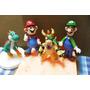 Topes De Tortas Masa Flexible - Mario Bross 4 Pieza