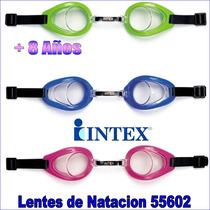 Lentes De Natacion 55602 Piscina Playa Intex Mayores D 8años