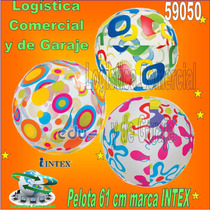 Pelota Inflable Playa Piscina Niños Intex 59050 61cm Diametr