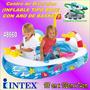 Centro Diversion Inflable Tipo Bote Con Aro De Basket 48660