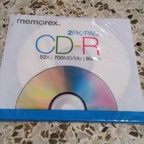 Cd Virgen Memorex Cd-r 52x 700mb 80min Nuevo Para Cualquier