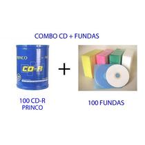 Combo De Torre De 100 Cd-r + Fundas