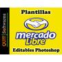Plantillas Editables Hd Para Mercadolibre En Photoshop, Html