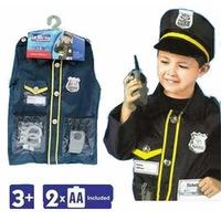 Disfraz Policia Ropa Carnaval Niño Niñas De 3-8 Años Nuevo