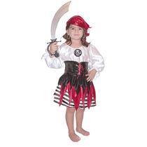 Difraz Pirata Niña Carnavalito Talla 2 Halloween