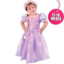 Disfraz De Rapunzel Carnavalito De 12-18 Meses