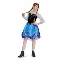 Disfraz De Anna Frozen Para Niña, Importado