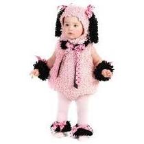 Disfraz De Perrita Para Niñas Rosado