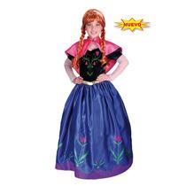 Disfraz Princesas Frozen Elsa Y Anna Carnavalito Con Peluca