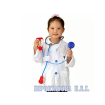 Disfraz Doctor Niño O Niña Nuevo Ropa Carnaval De 3 A 8 Años