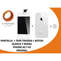 Combo Pantalla + Tapa Trasera + Boton Inicio Iphone 4g Y 4s