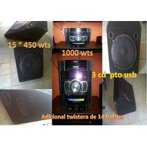 Equipo De Sonido Soni 1000 Wts Con Cornentas De Minitek