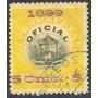 Venezuela Estampilla Oficial Sobrecarga Magenta 1899 Usada