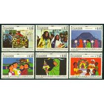 Estampillas De Ecuador Serie 6 Valores 1967 Navidad