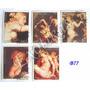 B77-b84 Estampillas Paraguay Desnudos 5 Valores Obras Arte