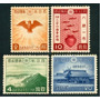 Estampillas Japón Serie De 4 Valores De 1940 Aves, Peces