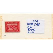 Usa 1913 Scott# 398 Mint- Lh - Og -