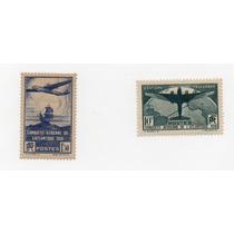 Francia 1936 C16-17 Mint-og-lh - Bien Centradas -excelentes