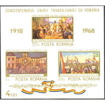 Estampillas Rumania Hoja Bloque 1968 Transilvania Pinturas