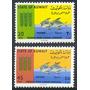 Estampillas Kuwait Serie 1966 Peces / Campaña Contra Hambre