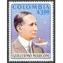 Estampilla Colombia Un Valor De 1975 - Guillermo Marconi