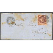España Sobre Circulado Año 1862 Con Estampilla De 4 Cuartos