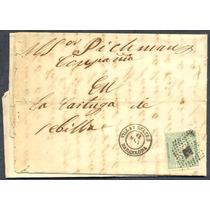 España Sobre Circulado 1873 Barcelona, Estampilla De 10 Ctms