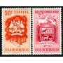 Estampillas Venezuela 2 Escudos Diferentes De 1951 Y 1953