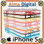 Forro Bumper Iphone 5 Estuche Protector Bordes Goma Plastico