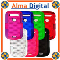 Forro Doble Perforado Blackberry Bold5 9900 Plastico Silicon