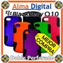 Forro Doble Perforado Blackberry Q10 Plastico Silicon Celula