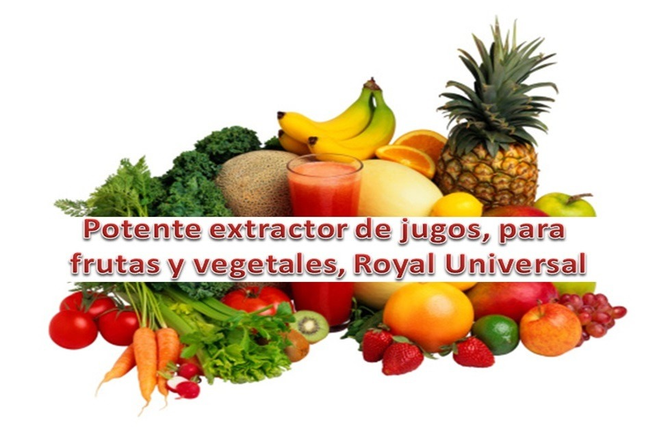 Extractor de jugos y vegetales