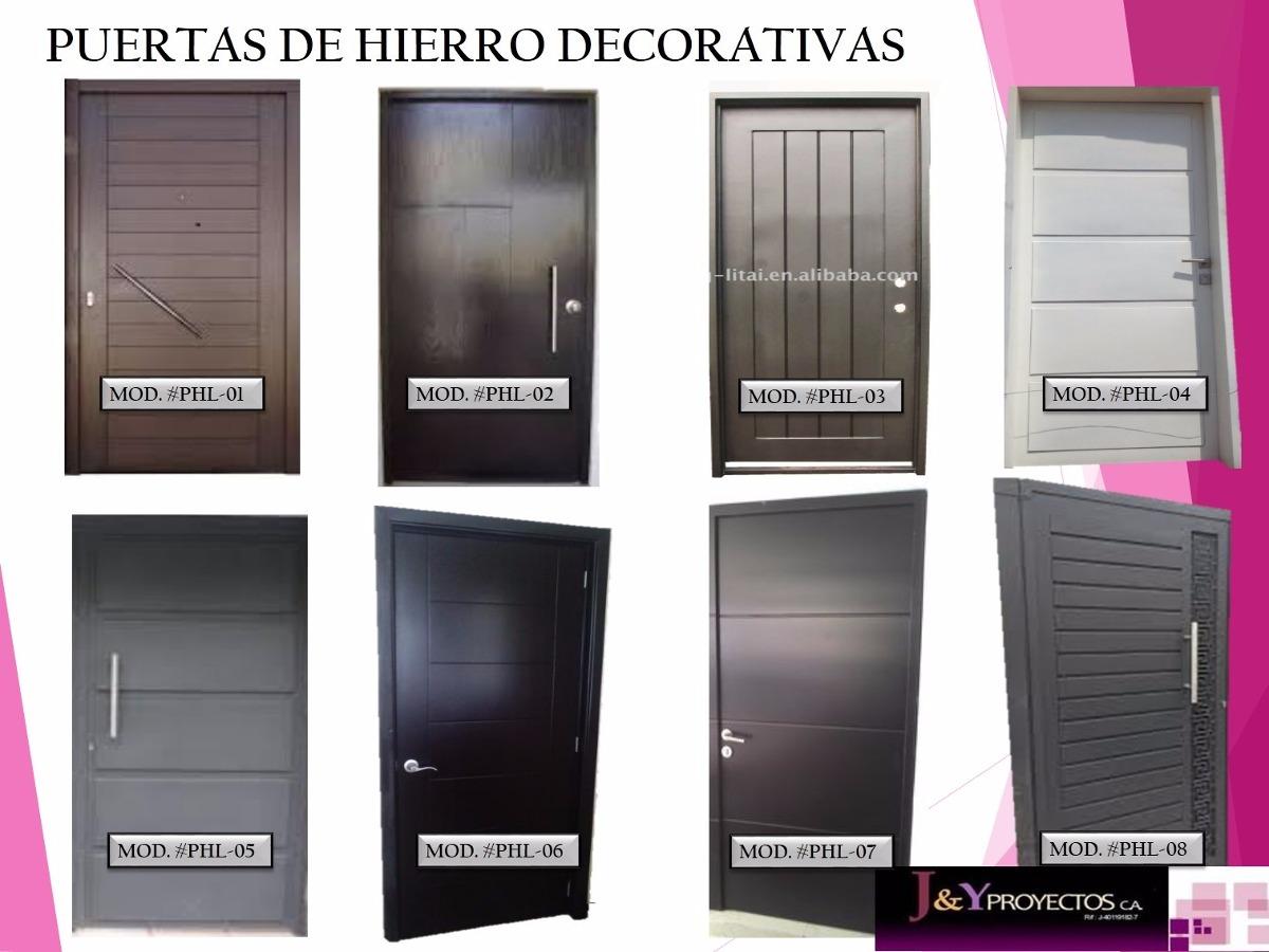 Puertas de metal para casas puertas de metal para casa for Modelos de puertas de hierro con vidrio