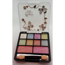 Paleta Sombras + Rubor 10 Tonos Luyisi Cosmetics