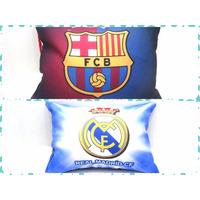 Mini Almohadas Real Madrid Barcelona Fútbol Cotillón Regalo