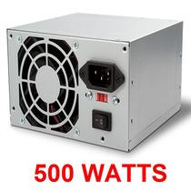 Fuente De Poder 500 Watts Wash Atx 20+4 Pines Sata Poder Xtc