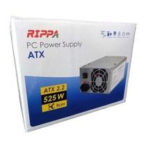 Fuente De Poder Rippa 525 W Atx (20+4pin) Sata Con Su Cable