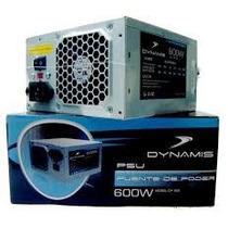 Fuente Poder Dynamis 600w Sata 20+4 Pines