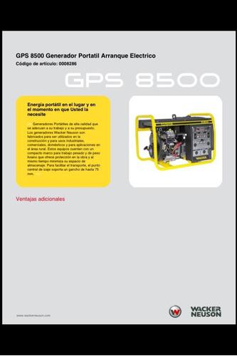 Generador Planta Electrica Wacker Neuson Gps8500 8.5 Kva New