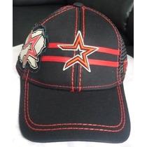 Gorra Astros De Houston Flex Cerrada Talla S Negra.