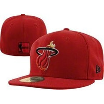 Gorra Cerrada Plana Nba Miami Heat New Era Original