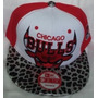 Gorra Chicago Bulls Animal Print Plana Ajustable Broche Roja