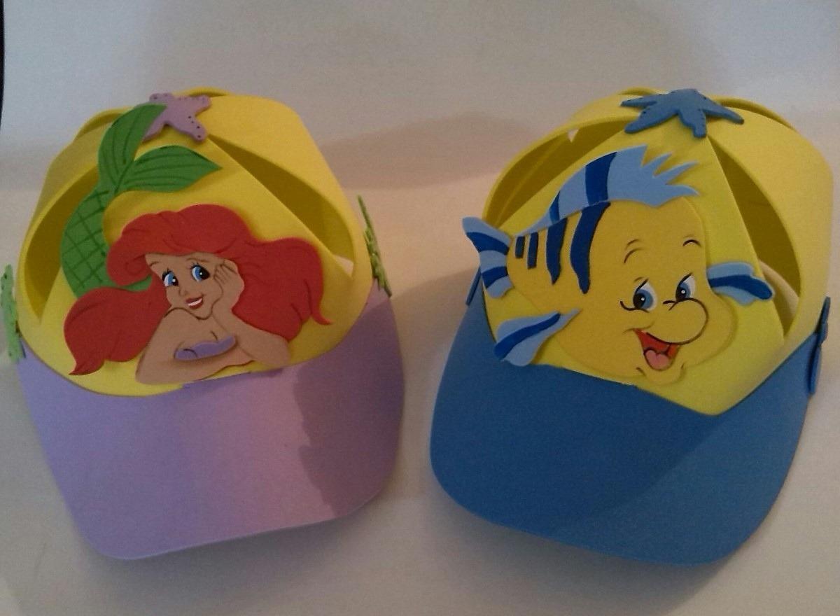 gorras foami para fiestas la sirenita minions mickey cars