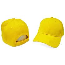 Gorras Unicolor Amarillo Bandera Con Cierre Magico