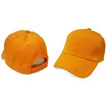 Gorras Unicolor Naranja Con Cierre Magico