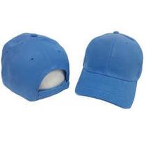 Gorras Unicolor Azul Cielo Con Cierre Magico