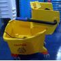Carrito Industrial Lava Mopas 30lts Amarillo Radiante